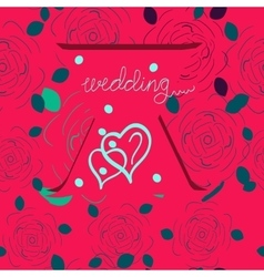 Wedding graphic INVITATION vector image