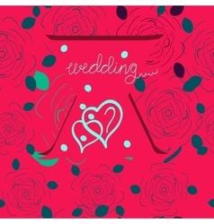 Wedding graphic INVITATION vector image