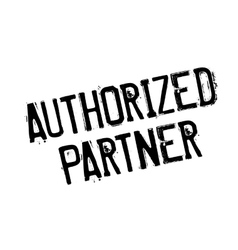 Authorized partner rubber stamp vector