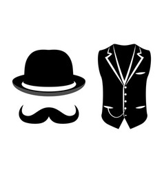 Set of items of a gentleman vector