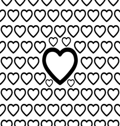 Seamless big heart pattern vector