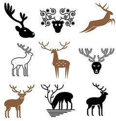 Logo icons deer vector