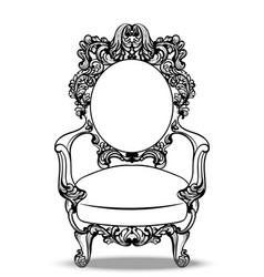 Imperial baroque chairs collection with luxurious vector