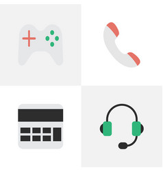 Set of simple gadget icons elements accounting vector