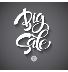 Big sale inscription calligraphy lettering vector
