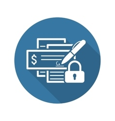 Banking security icon flat design vector