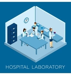 Hospital laboratory concept vector