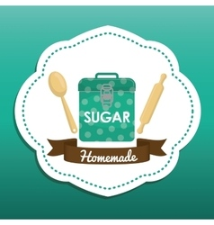 Homemade dessert recipe vector
