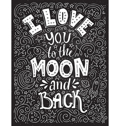 Love you to the moon vector image