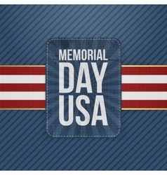 Memorial day usa greeting sign vector