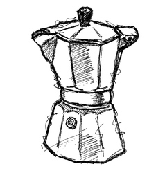Scribble series - coffeemaker vector