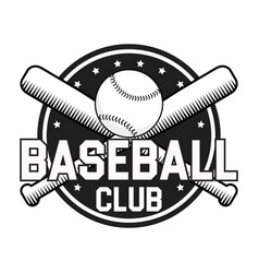 Baseball badge or logo vector