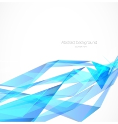blue polygonal background vector image vector image