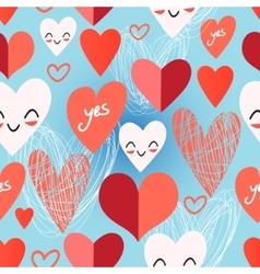 Bright pattern from different hearts vector