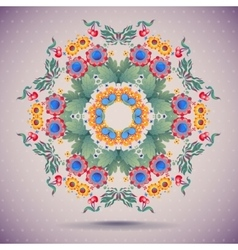Card round oriental pattern on vintage vector
