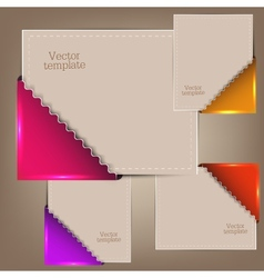 Colorful bookmarks and notes for text vector image vector image
