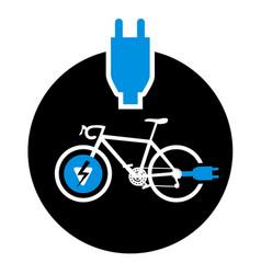 Electro bike symbol vector