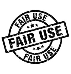 Fair use round grunge black stamp vector