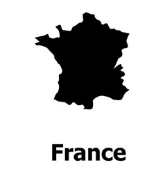 France map icon simple style vector
