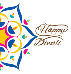 Indian festival for diwali celebration greeting vector