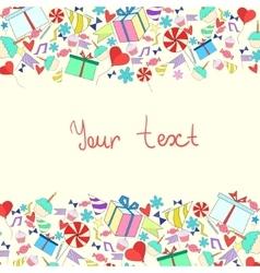 Invitation card birthday holiday vector