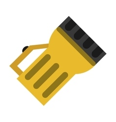 Lantern light tool element camping yellow vector