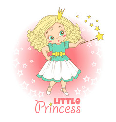 little girl with crown vector image vector image