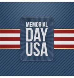 Memorial day usa greeting sign vector