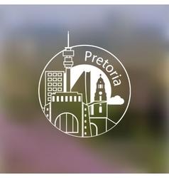 Minimalist round icon of Pretoria South Africa vector image