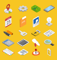 Mobile development icons set vector