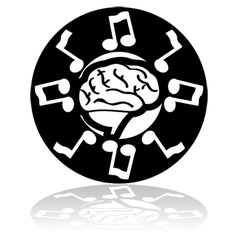 Musical brain vector image