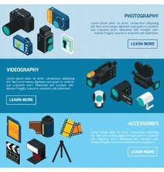 Photo and video banners vector