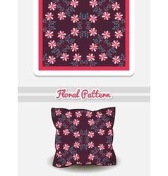 Pillow Doodle Flowers vector image