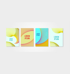 poster covers set with circle shapes trendly vector image vector image
