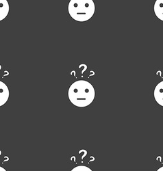 question mark and man incomprehension icon sign vector image vector image