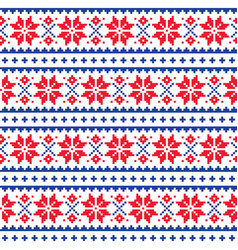 schristmas winter seamless pattern vector image vector image