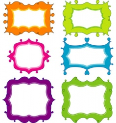 Scrapbook elements for design vector vector