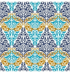 Seamless in mosaic ethnic style vector
