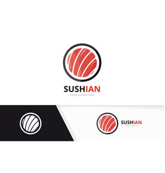 sushi logo combination japanese food and vector image