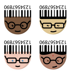 The cartoon characters with glasses vector