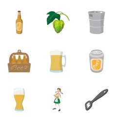 Tourism in germany icons set cartoon style vector