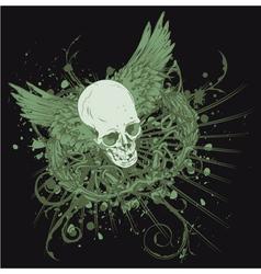 vintage t-shirt design with skull vector image