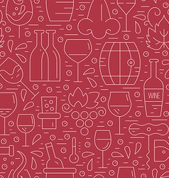 Winery pattern vector