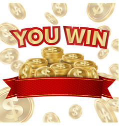 You win screen isolated ackground for vector