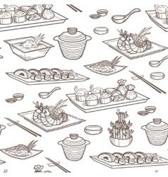 Asian food vector