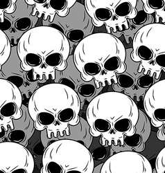 Skull texture skeleton head lot background of vector