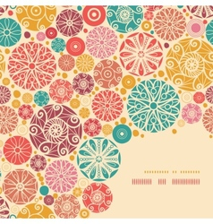 Abstract decorative circles corner pattern vector