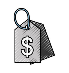 Price tag isolated icon vector