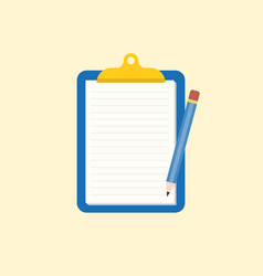 note memo and pencil vector image