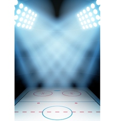 Background for posters night ice hockey stadium in vector